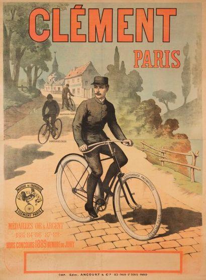 ANONYME Cycles Clément Imprimerie Ancourt,...