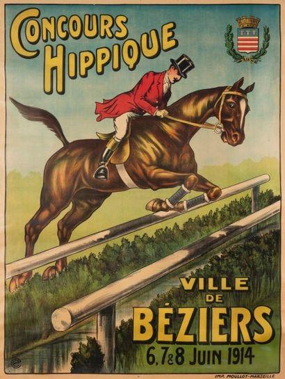 Monogramme E.C. Concours hippique, ville de Béziers. 6, 7, 8 juin 1914 Imprimerie...