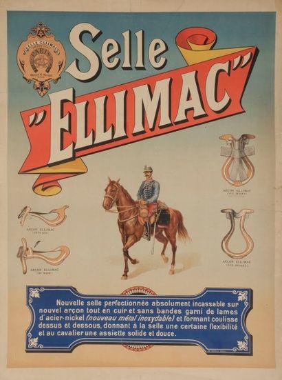 ANONYME Lot de deux affiches - Selle Ellimac 71 x 52 cm - Sellerie Camille et fis....