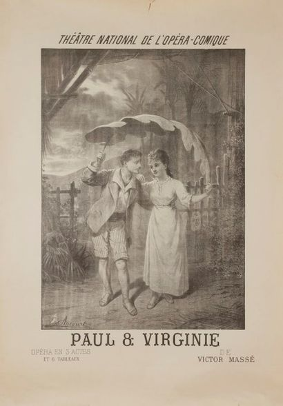 Edward ANCOURT (1841-?) Paul et Virginie...