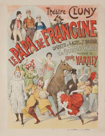 ANONYME Le papa de Francine Lithographie...