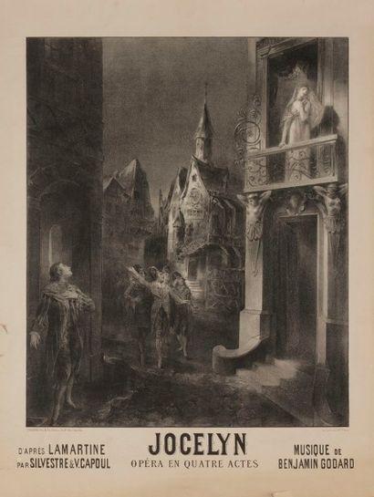 A. COURTINES Jocelyn, d'après Lamartine Signée en bas à gauche. Non entoilée, bon...