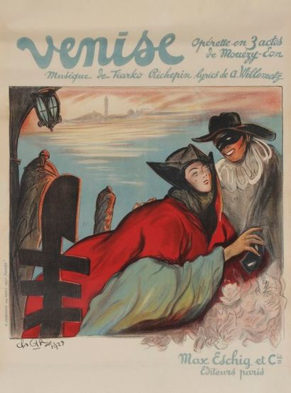 Charles GIR (1883-1941) VENISE, Musique de...