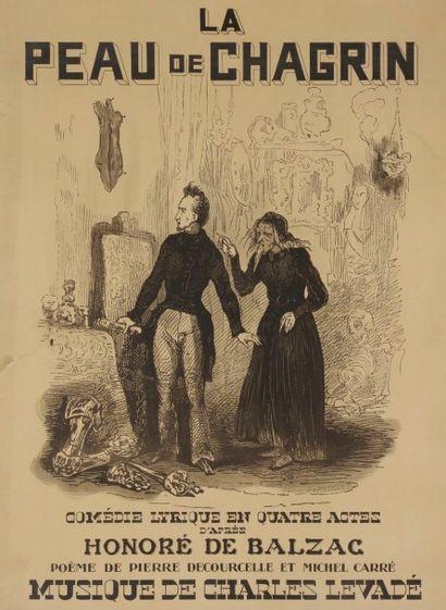 Tony JOHANNOT (1803-1852) La cour de chagrin,...