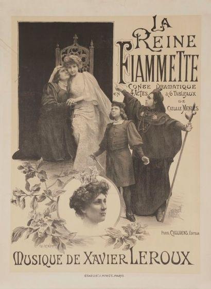 P. MOURAU La reine Fiamette de Catulle Mendes...