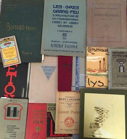 [BÂTIMENT - URBANISME]. Ensemble de 15 catalogues...