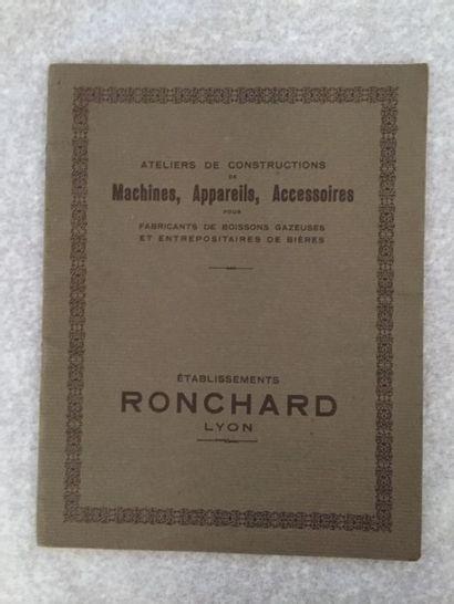 [BOISSONS] RONCHARD. Appareils et siphons...