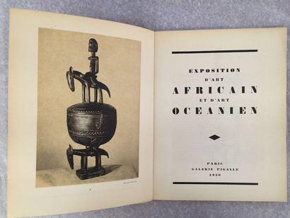 [ARTS]. Exposition d'art africain et d'art océanien. Paris : Galerie Picalle, 1930....