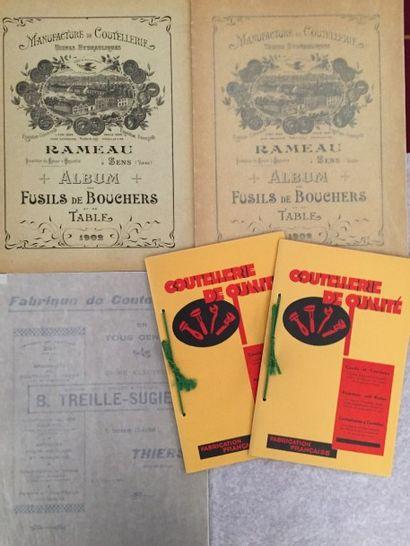 [COUTELLERIE]. Ensemble de 4 catalogues :...