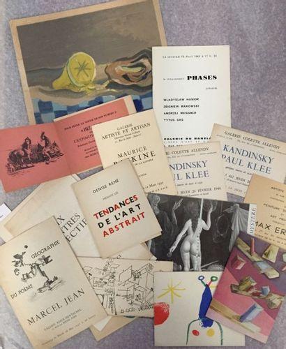 [ARTS]. Collection de 20 documents pour la...