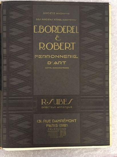 [FERRONNERIE] BORDEREL ET ROBERT. Ferronnerie...