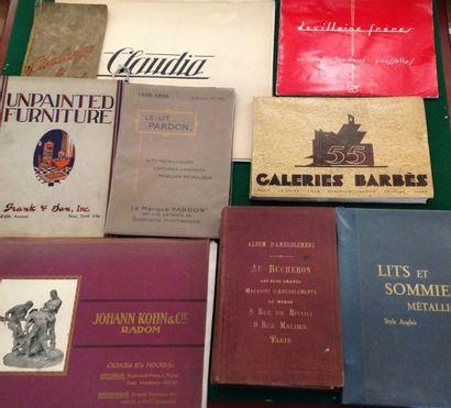 [MOBILIER - DÉCORATION]. Ensemble de 9 catalogues...