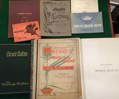 [MOBILIER - DÉCORATION]. Ensemble de 8 catalogues...