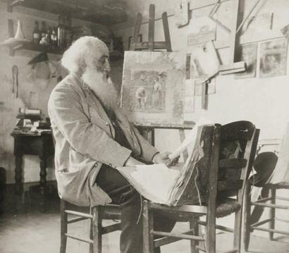 PHOTOGRAPHIE Le peintre Camille PISSARO dans...