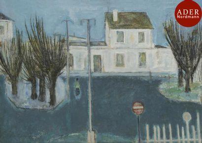 Abolghassem SAIDI [iranien] (né en 1925) La Gare de Bourg-la-Reine, vers 1950 Huile...
