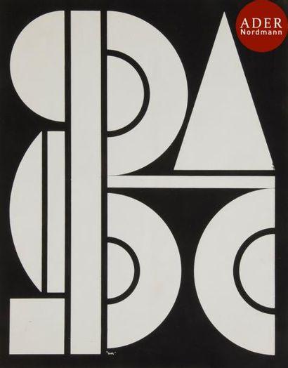 Auguste HERBIN (1882-1960) Composition sur...