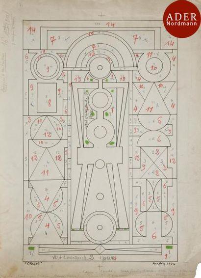 Auguste HERBIN (1882-1960) Christ, 1944 Encre....