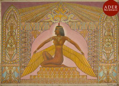 Victor SIMON (1903-1976) Isis, 1942 Huile...