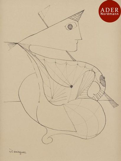 Oscar DOMINGUEZ [espagnol] (1906-1957) Femme...