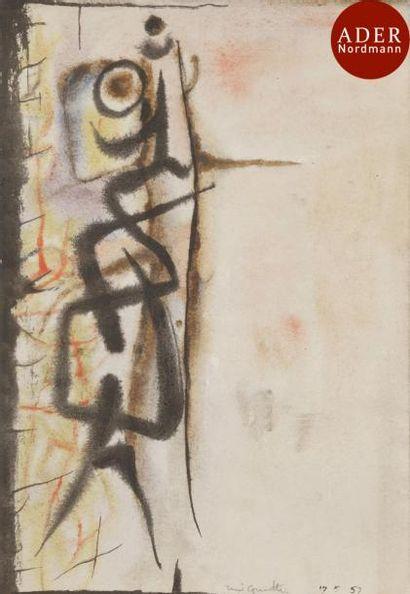 René GUIETTE (1893-1976) Composition, 1957...