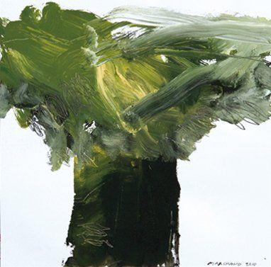 Pierre MARCHAND (Né en 1960) Arbre tempête Acrylique sur papier. Signée et datée...