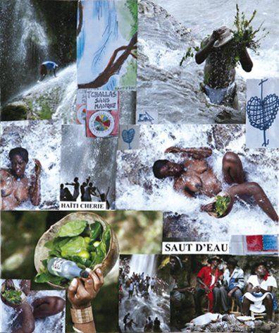 ZERAPHIM (Né en 1941) Haïti chérie Papier sur toile et collages. Daté au dos «mars...