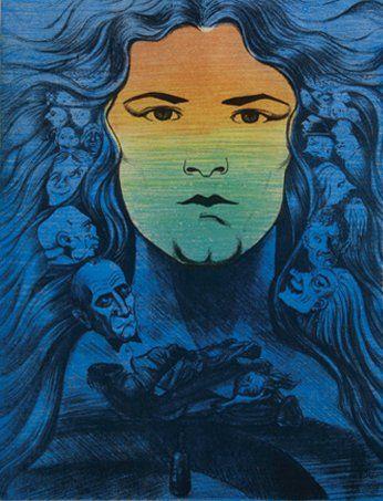 Constantin GUIONIS (Né en 1951) Crépuscule 3 Lithographie en couleur numérotée 7/7....