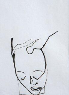 Lorraine PELLEGRINI (Née en 1952) Haïti Encre sur papier. Monogrammée et titrée en...