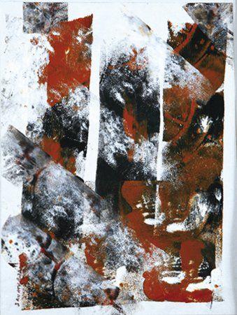 Patricia SANTERRE RACKLEY (Née en 1962) Décade Collage, papier, peinture et caséine...