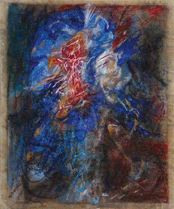 Sergiu ZANCU (Né en 1955) Fleur Pastel. Monogrammé en bas au milieu. Daté au dos...