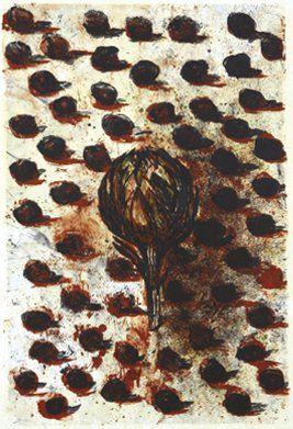 Emmanuelle RENARD (Née en 1963) L'artichaut Lithographie numérotée 70/80. Signée...