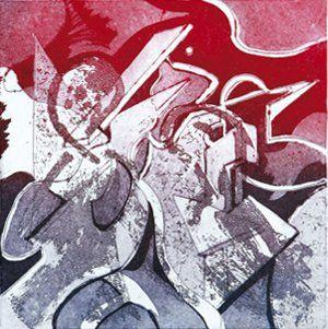 Monique RAYMOND, dite Monraymond (Née en 1945) Les Batisseurs 2 Eau forte sur papier...