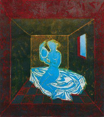 Aude de KERROS (Née en 1947) La Camera Oscura Eau forte numérotée 6/30. Signée en...