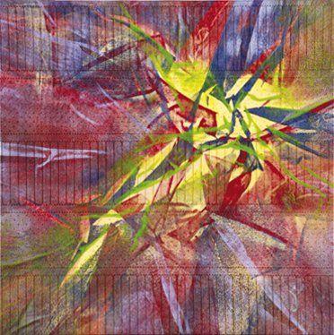 VIO (Née en 1956) Le Bateleur Acrylique sur tissu synthétique. Monogrammée en bas...