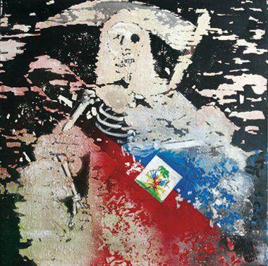 Fabrice BURDESE (Né en 1960) 12 janvier 2010 en Haïti Technique mixte sur toile....