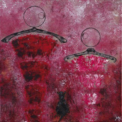 Marina ARGENTINI (Née en 1960) Promenade 14 Technique mixte sur toile. Monogrammée...
