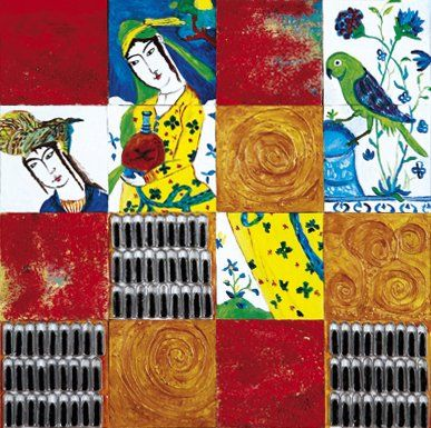 Michel GALLIOT (Né en 1952) Le Perroquet Technique mixte sur toile recomposée. Signée...