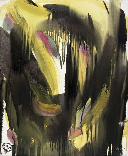 Ye TIAN [chinois] (Né en 1973) Composition Huile sur toile. Signée en bas à gauche....