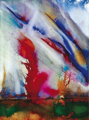 Fabien MARTINET (Né en 1970) Bourrasque Technique mixte sur papier. Signée en bas...