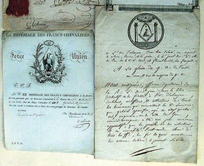 Certificat d'Apprenti manuscrit rédigé sur...