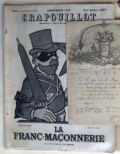 Le Crapouillot. «La Franc-Maçonnerie», première...