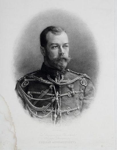 RUSSIE. Nicolas II de Russie. Eau-forte....