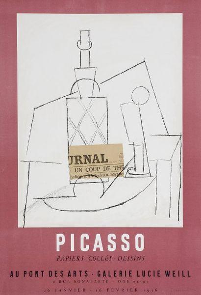 Picasso / papiers collés - dessins... Affiche...