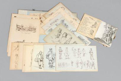 Deux recueils de lithographies et fac-similés...
