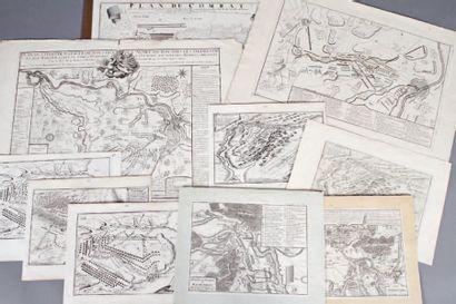 Ensemble de onze cartes de batailles du règne...