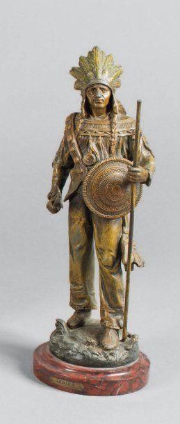 « L'indien en tenue de combat », par Demange....