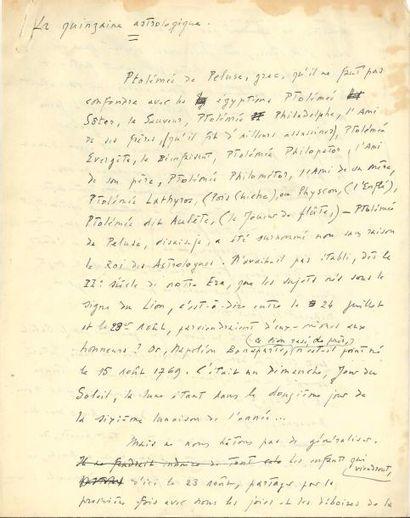 Léon-Paul FARGUE (1876-1947). Manuscrit autographe,...