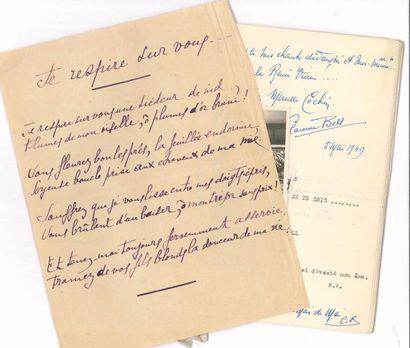 F+B126emmes de lettres. Environ 35 manuscrits,...