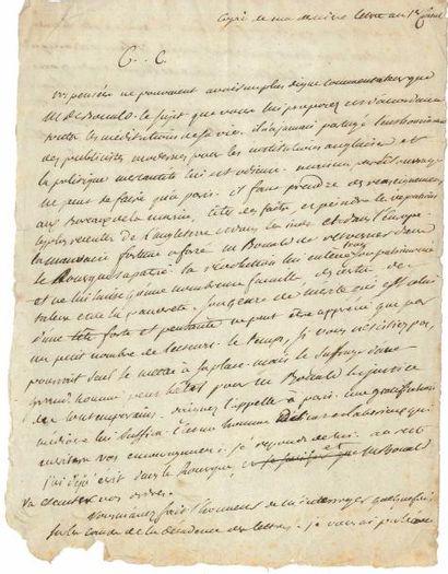 Louis de FONTANES (1757-1821) écrivain et...