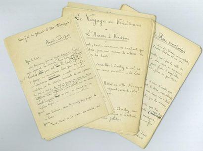 Paul FORT. 5 manuscrits autographes signés,...